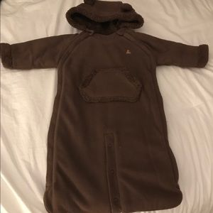 babyGap Newborn soft onesie winter coat/wrap.